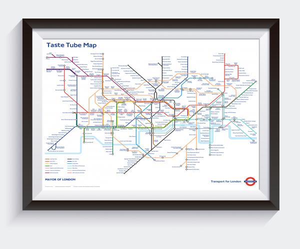 Taste Tube Map (TfL) A2 (594mm x 420mm)