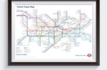 Taste Tube Map (TfL) A1  (840mm  x 594mm)